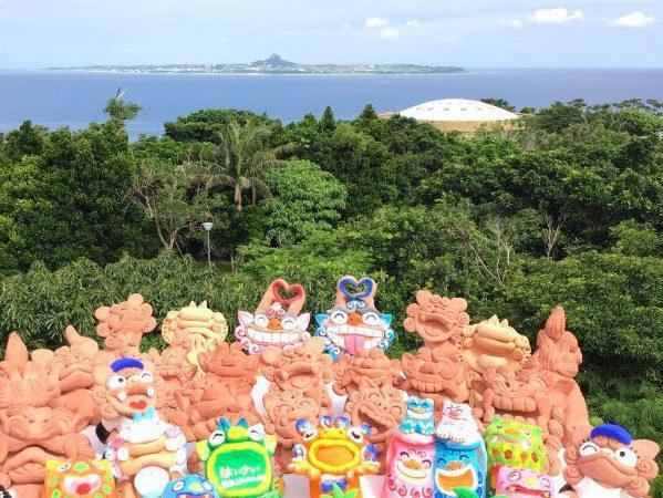 【可愛いシーサー色塗り体験】台&小物アイテムも可愛いシーサー専門店美ら海水族館まで1分&古宇利島近く