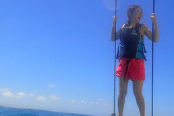 「海上ブランコで大海原にダイブ!」イメージ