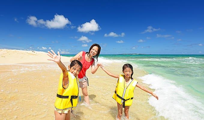 「最終日は子供と海を楽しもう」イメージ